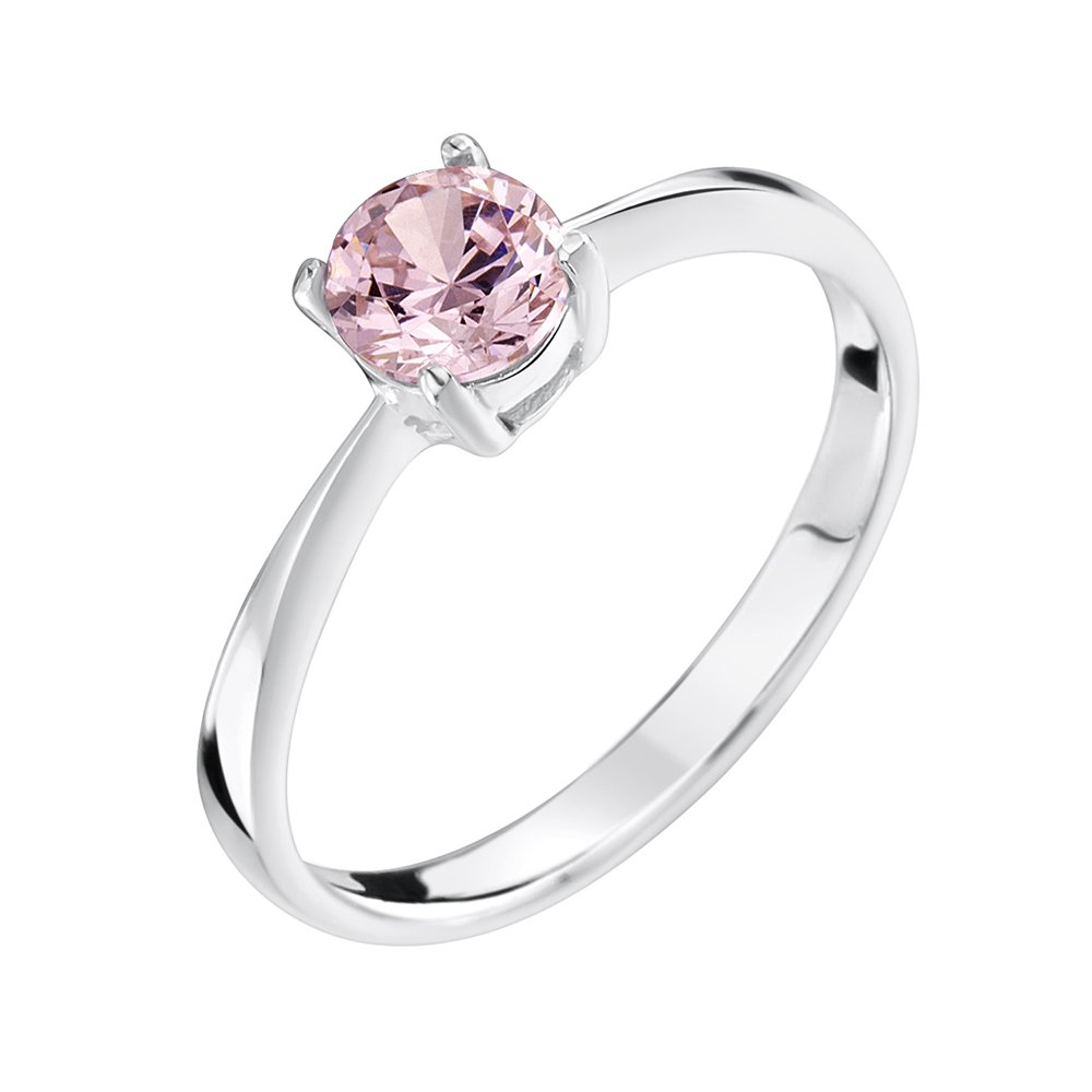 Pink Cz Ring Sterling Silver