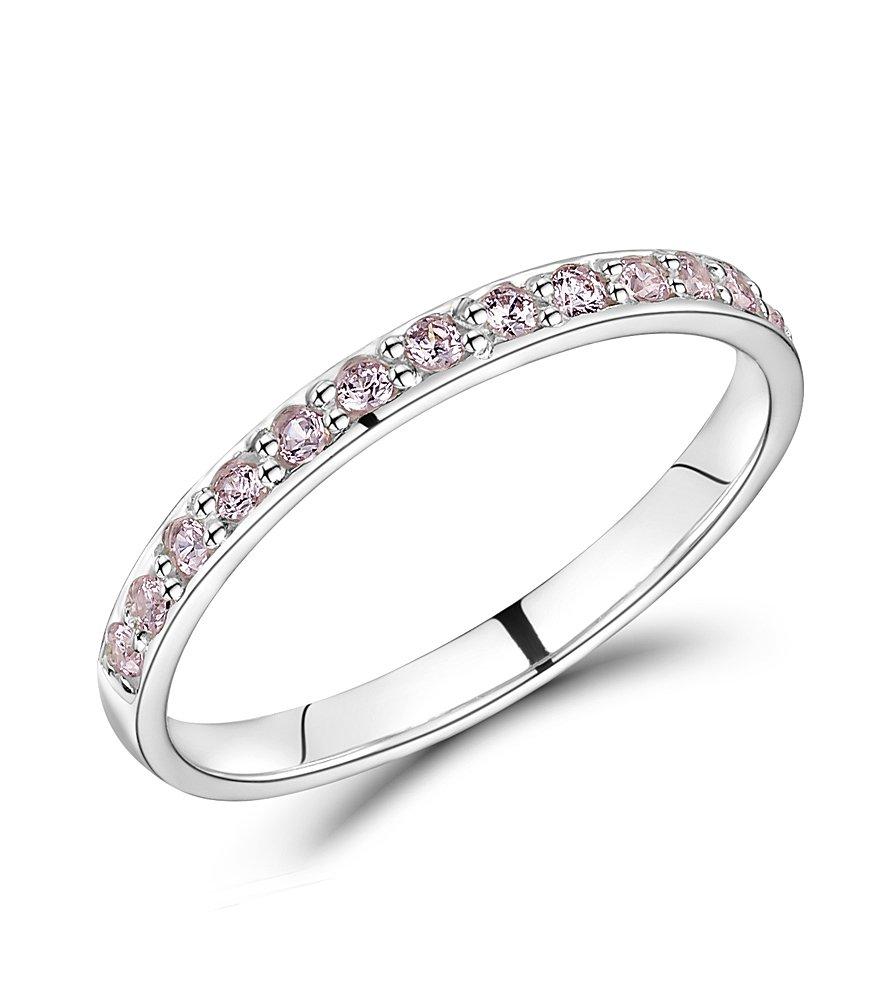 Pink Cz K Ring
