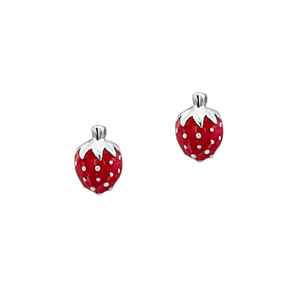 earrings elegant stud from girl cute fruit party jewelry new strawberry brincos item red women in