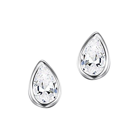 sterling silver teardrop stud earrings jo for